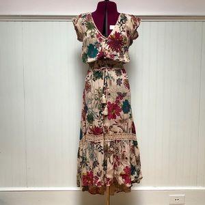 American Rag floral high low maxi dress